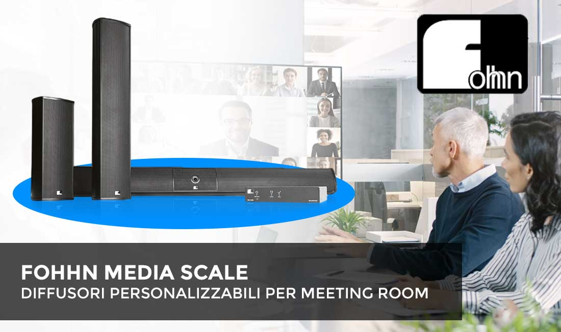 FOHHN MEDIA SCALE - Diffusori personalizzabili per meeting room