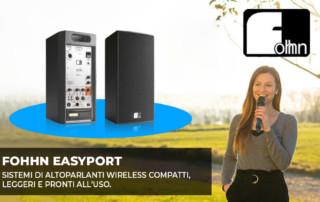 FOHHN EASYPORT: sistemi di altoparlanti wireless