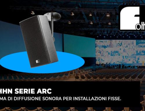 FOHHN SERIE ARC: sistema di diffusione sonora per installazioni fisse