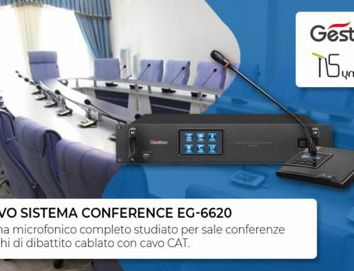 Scopri il nuovo sistema Conference di Gestton Electronics EG-6620
